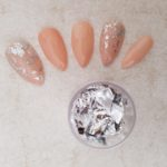 Silver nail art foil leaf