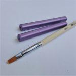 Flat gel brush & Purple brush caps